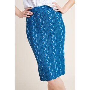 Anthropologie Sienna Embroidered Pencil Skirt New
